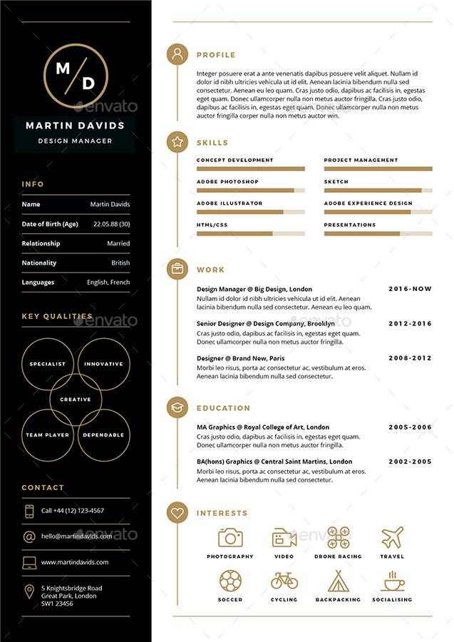 CV Resume by ikonome | GraphicRiver