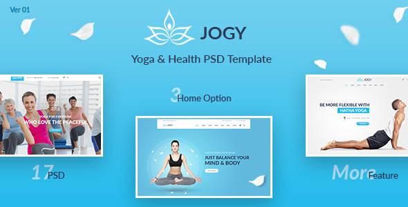 Jogy – Yoga & Health PSD Template