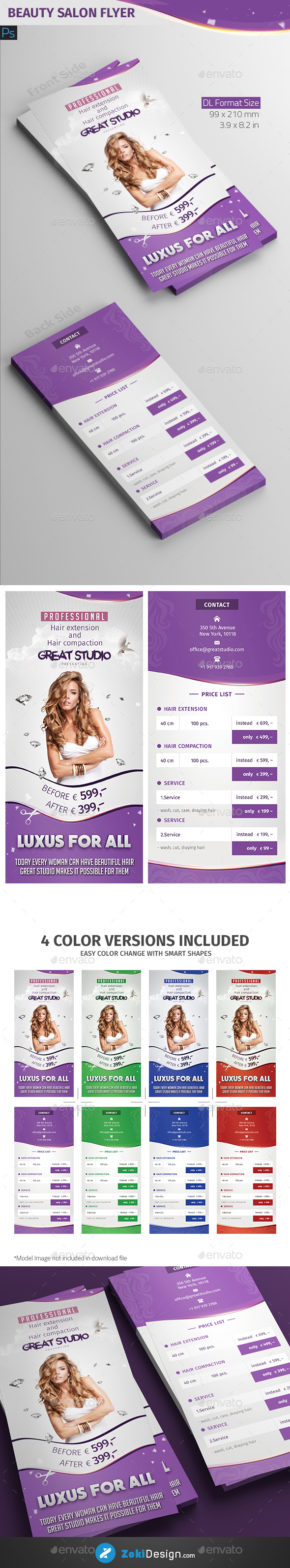 Beauty Salon Flyer - Corporate Flyers