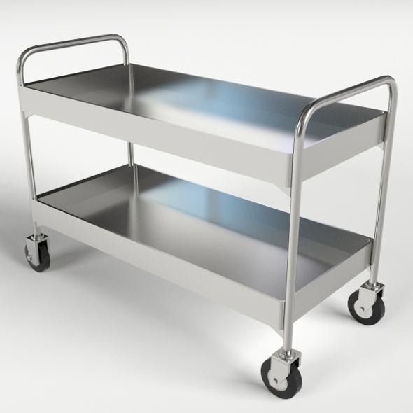 Food, Beverage Trolley, Cart 1 - 3DOcean Item for Sale