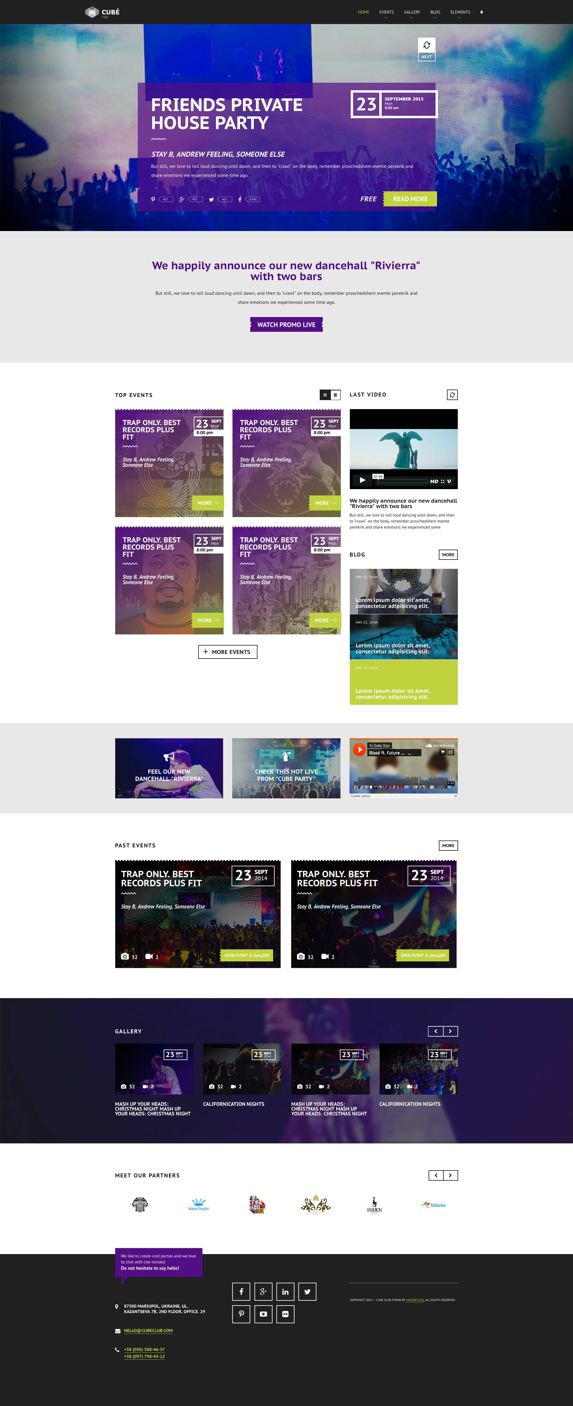 Club Cube V 2 Responsive Modx Theme For Night Club By
