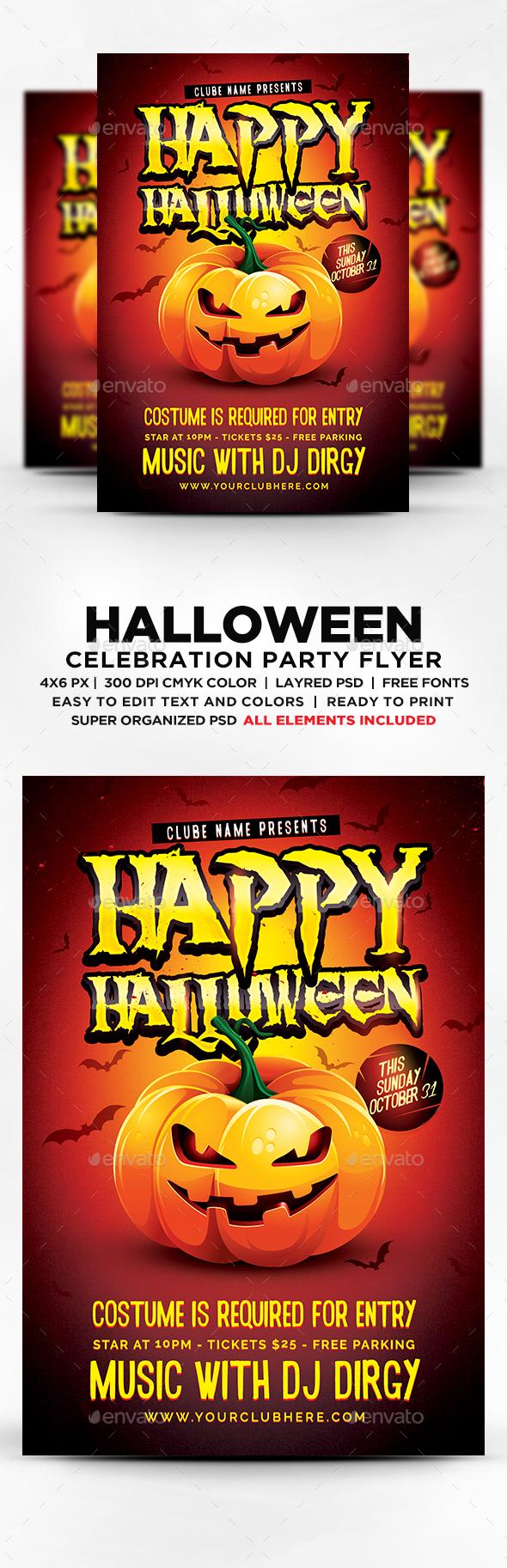 Happy Halloween Party Flyer