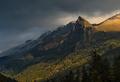 Rock Zakan at sunrise. Caucasus mountains. - PhotoDune Item for Sale