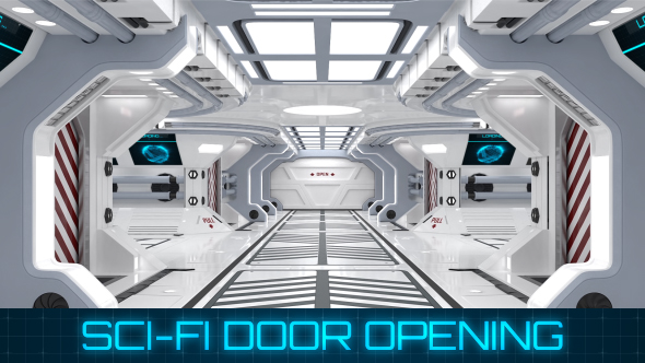 Sci Fi Door Opening By Cyndyk Ids Videohive