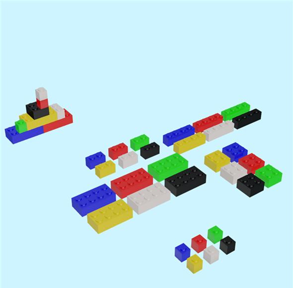 Building Block Set - 3DOcean Item for Sale
