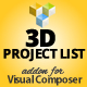 3D Project List Addon for Visual Composer