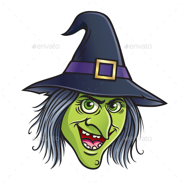 wicked witch face by rodsavely graphicriver Cute Halloween Clip Art Vintage Halloween Clip Art