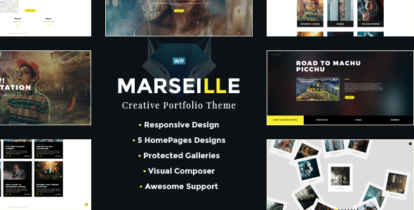 FullScreen Photography, Photo Session, Protected Gallery, WordPress Theme – Marseille