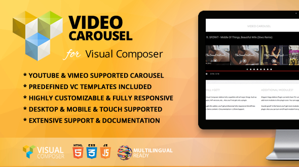 Video Carousel Addon for Visual Composer - CodeCanyon Item for Sale