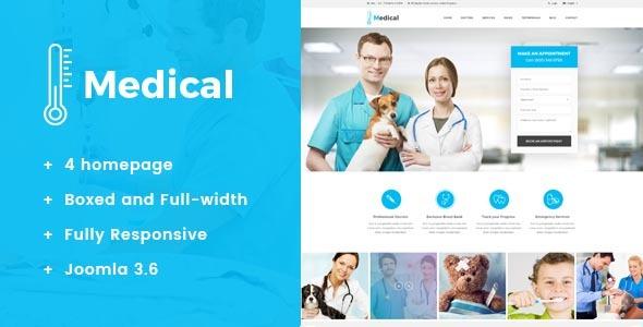 Medical - Health & Medical Joomla Template