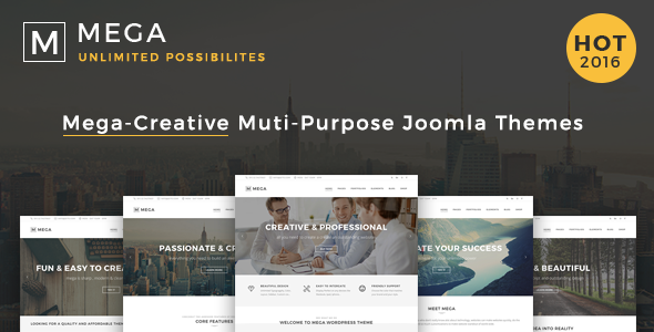 Mega - Responsive Multi-Purpose Joomla Theme - Business Corporate