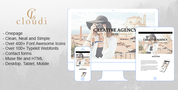 Clodin - Creative One Page Muse Template - Creative Muse Templates