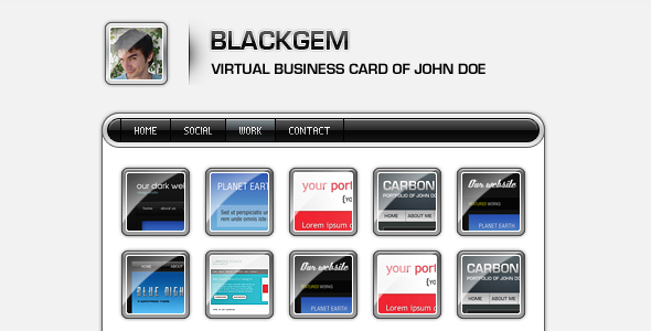 Free Download Blackgem vCard Nulled Latest Version