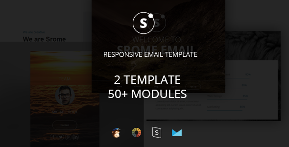 Sromed – Multipurpose Responsive Email Template + Stampready Builder