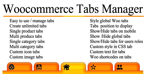 woocommerce tabs manager codecanyon item for sale