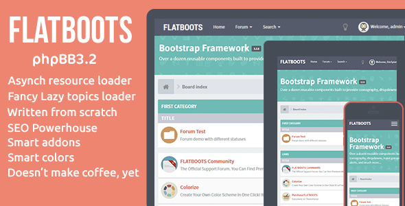 FLATBOOTS - phpBB 3.2 | High-Performance And Creative Modern Forum For phpBB