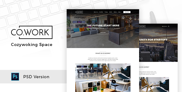 CoWork – Open Office & Creative Space PSD Template