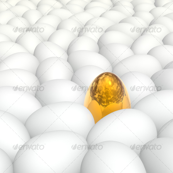 golden egg - 3D Backgrounds