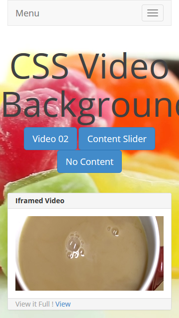 how to make background video css