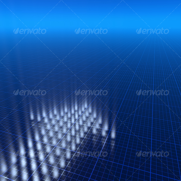 3D blue background - 3D Backgrounds
