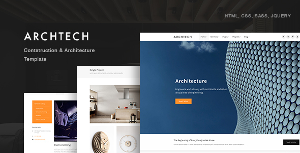 Archtech - Architecture & Construction Template