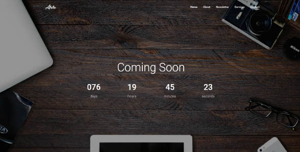 Alpha - Responsive Coming Soon Template - Under Construction Specialty Pages