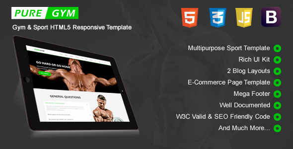 PureGym - Sport & Gym HTML5 Responsive Template - Retail Site Templates