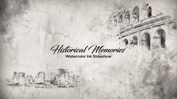 Historical Memories // Watercolor Ink Slideshow - 18404158