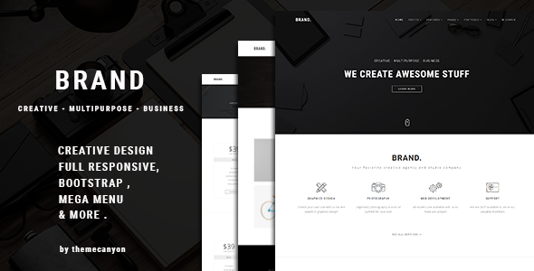 Brand. - HTML5 Multipurpose Business Template