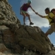 Couple Climbing Mountain Range - VideoHive Item for Sale
