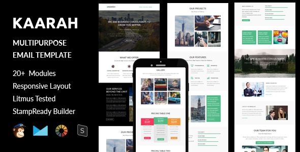 Kaarah – Multipurpose Responsive Email Template + Stampready Builder