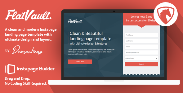 Flatvault - Instapage Landing Page Template