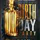 Gold Birthday Party | Flyer Template - GraphicRiver Item for Sale