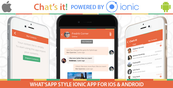 What's App Chat  Clone – An Ionic Framework ,Socket.io and Nodejs Full Hybrid App - CodeCanyon Item for Sale