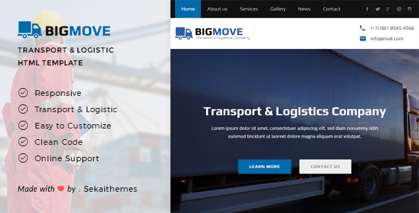 Big Move - Responsive Transport & Logistics HTML Template - Business Corporate