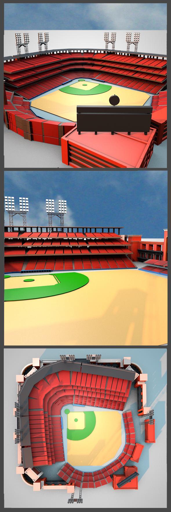 Busch Stadium - 3DOcean Item for Sale