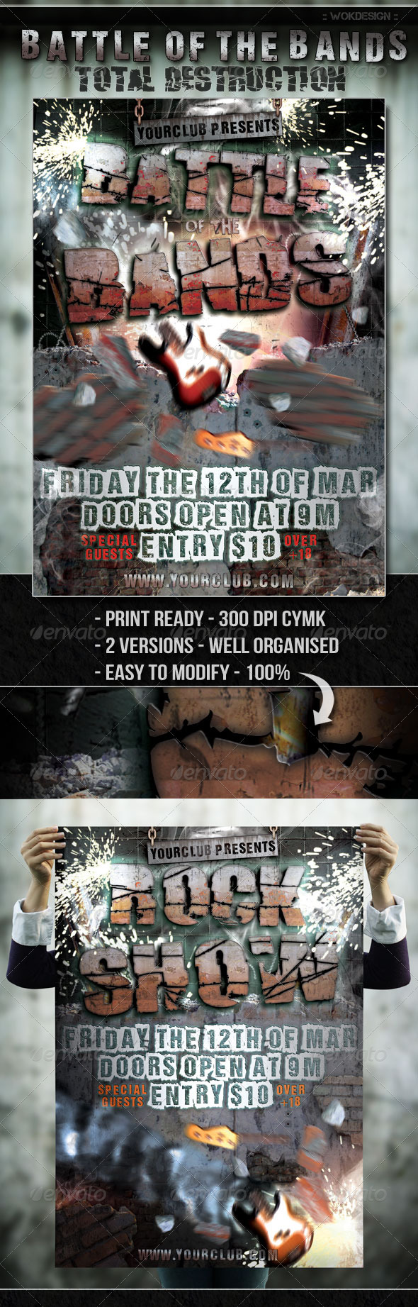 Battle of the Bands Flyer - Flyers Print Templates