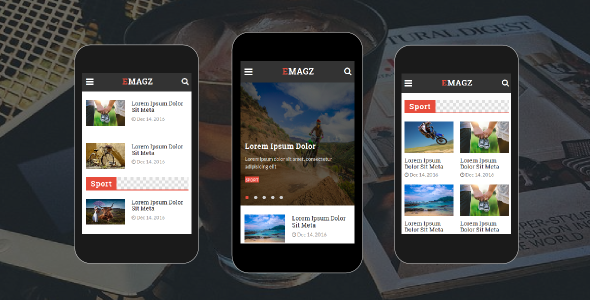 Emagz – News & Magazine Mobile Template