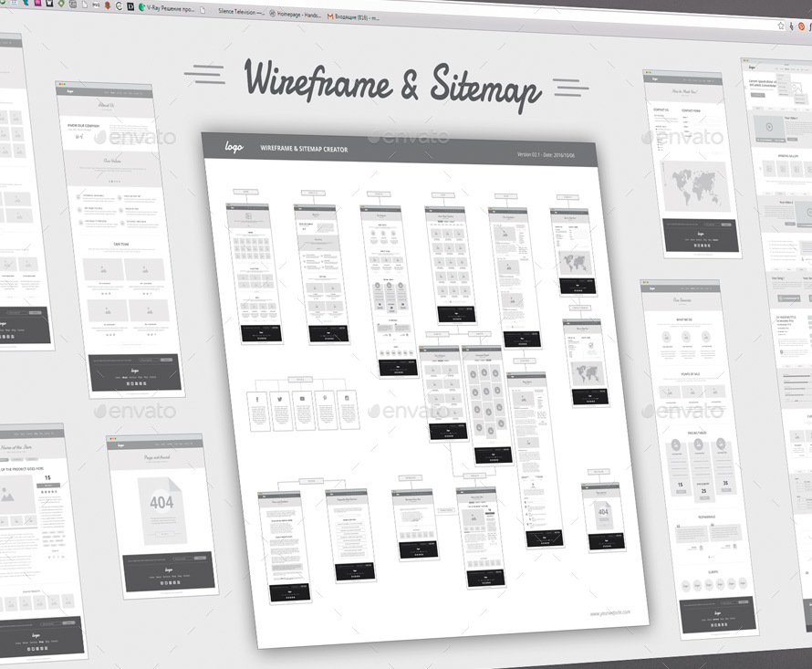 Wireframe And Sitemap Creator By Sargatal2