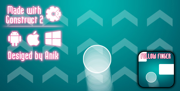 Follow Finger - HTML5 Game (CAPX) - CodeCanyon Item for Sale