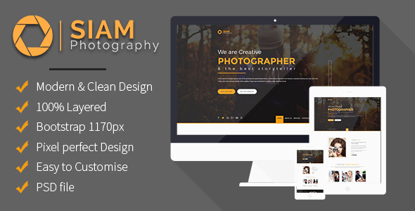 Photography Portfolio - PSD Templates
