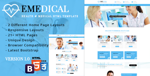 eMedical – Health & Medical Respnsive HTML5 Template
