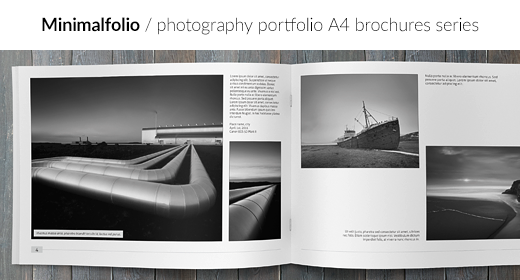 Minimalfolio - photography portfolio A4 brochures series