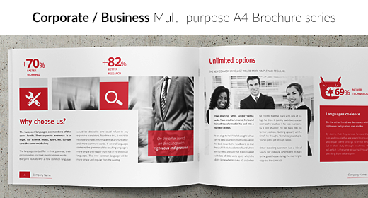 Corporate Business - Multi-purpose A4 Brochure series