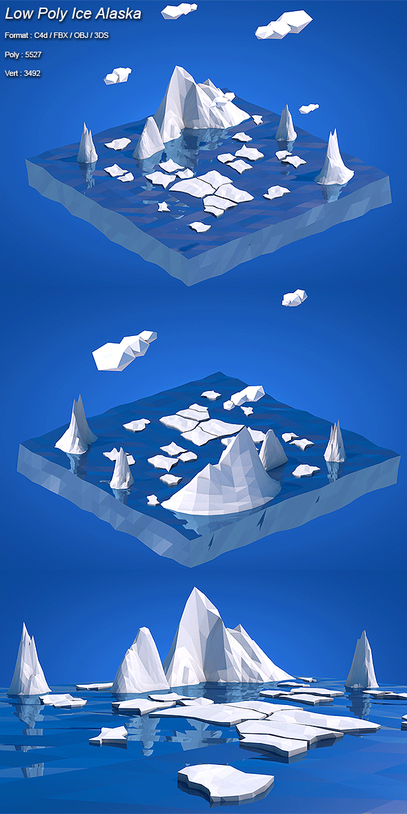 Low Poly Ice Alaska - 3DOcean Item for Sale