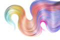Multicolored hair lock isolated over white background - PhotoDune Item for Sale