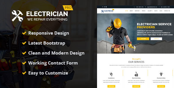 Electrician – WordPress Theme