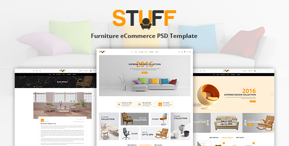 Stuff – Furniture eCommerce PSD Template