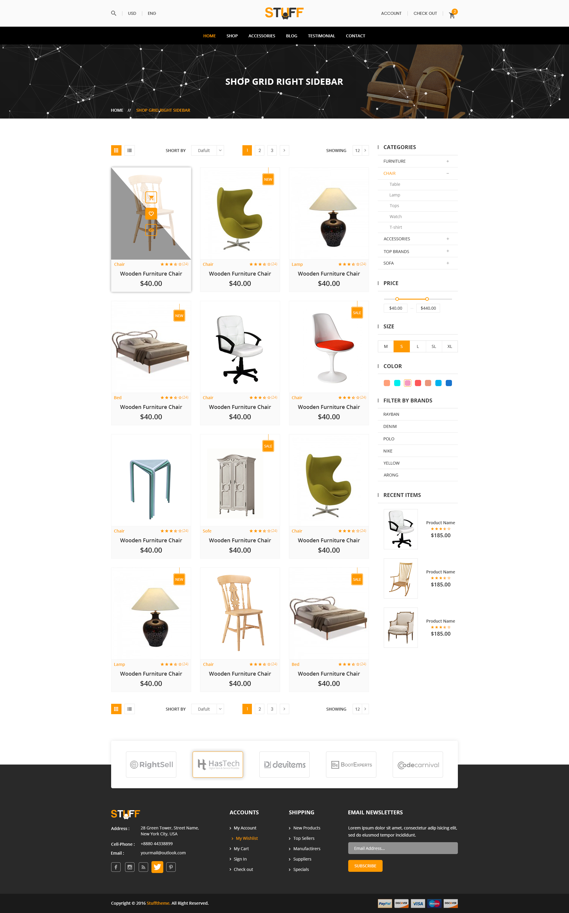 Stuff Furniture e merce PSD Template by Themes Hub