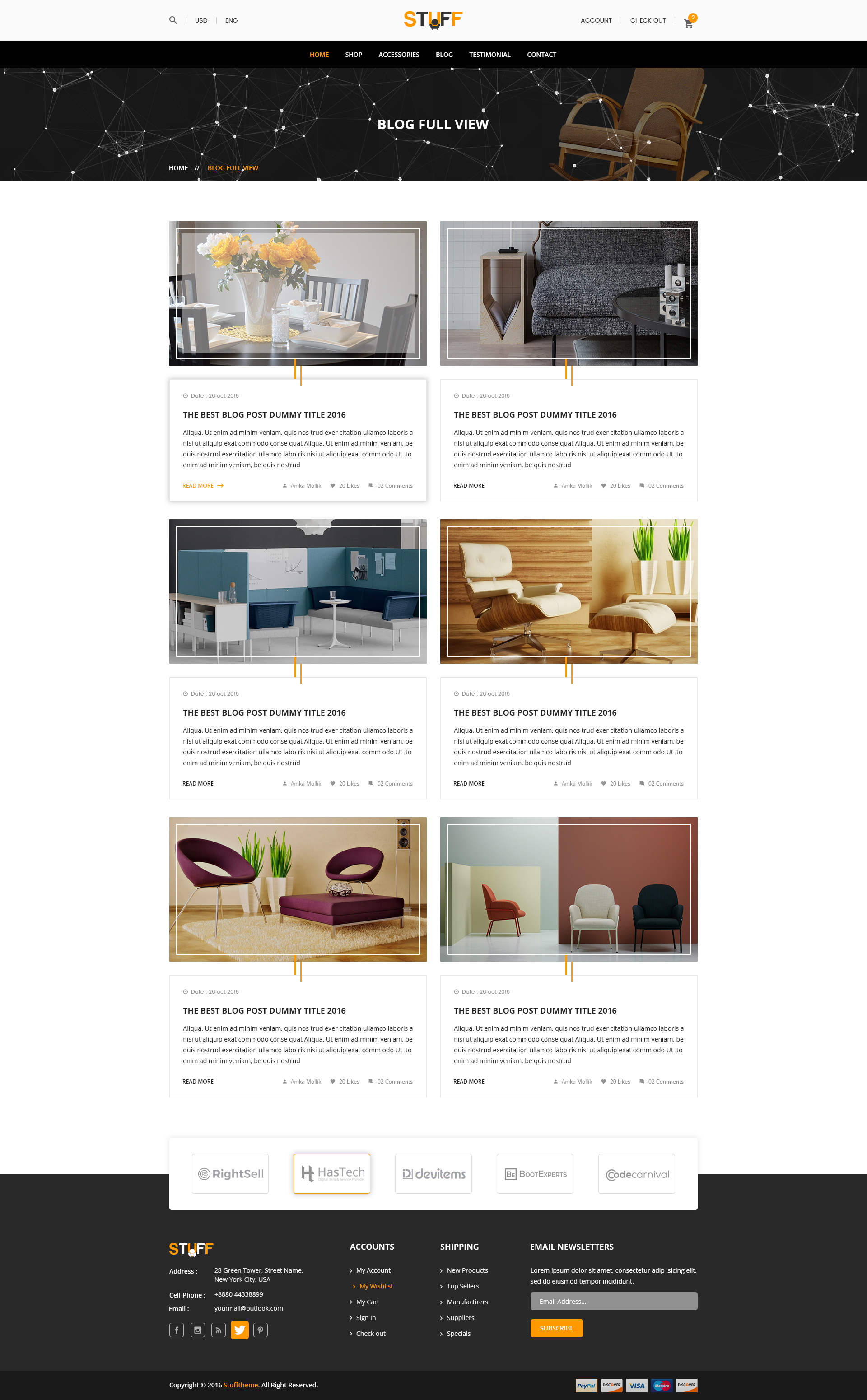 Stuff Furniture ECommerce PSD Template By ThemesHub ThemeForest - Product ad template